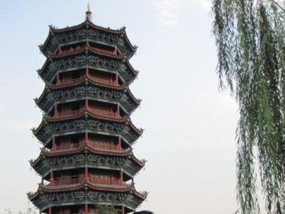 20120915岸柳在(家乡滦县)滦州古城留影