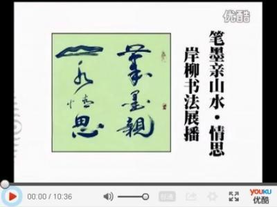 【视频】《笔墨亲山水· 情思》岸柳书法展播