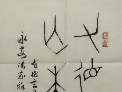 1988年江南大学周稚云先生书赠岸柳