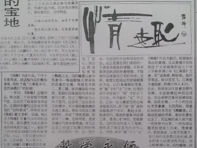 岸柳代表作《情趣》争鸣(汇总)刊于1998年《钢笔书法报》