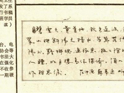 1990年《书法报》刊发岸柳书法作品