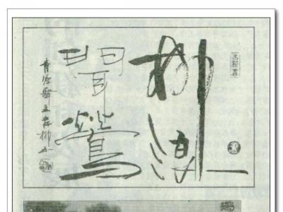 《河北日报》刊发岸柳书法作品